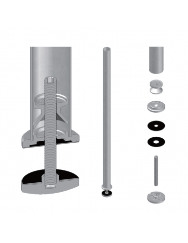 Platine fixation - support ⌀ 42.4 mm