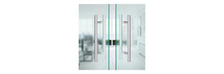 Cette poignée de porte en acier inoxydable est compatible avec de nombreux types de portes