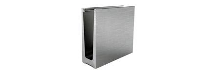 Profilé aluminium pour garde-corps en verre feuilleté
